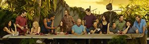 The cast of LOST in a Last Supper pose